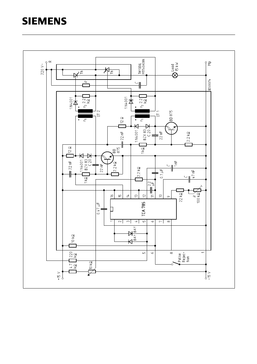 Tca785 Datasheet Pdf Download 14 16 Page Infineon Technologies Circuit Diagram Ks2