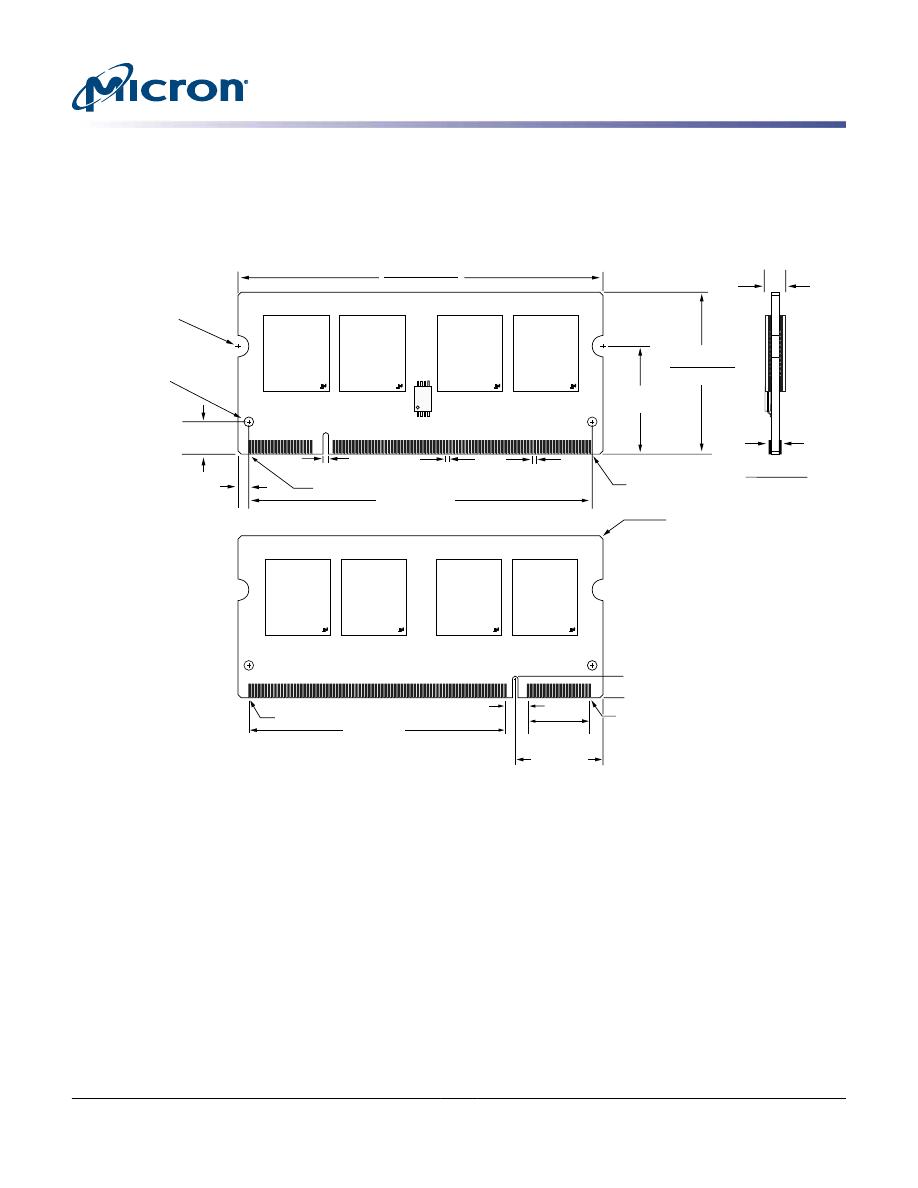 MT8HTF12864HZ-667H1 Datasheet (PDF Download) 17/17 Page
